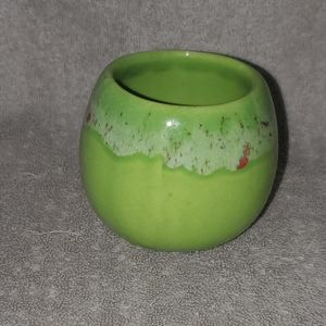 Vintage Creek Signed Small Green Planter